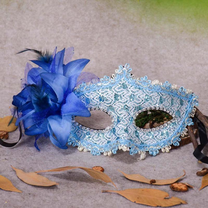 Party dentelle Masque Carnaval Déguisements Masques pour les yeux Masques de mascarade fleur plume mascarade masque d'Halloween