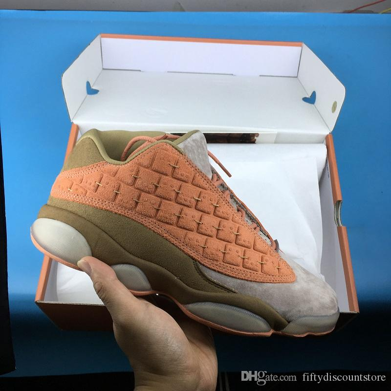 2019 CLOT 13 zapatos de baloncesto Low Terracotta Warriors Sport Sneakers formadores de moda china Mens Orange Trails de calidad superior tamaño 36-47.5