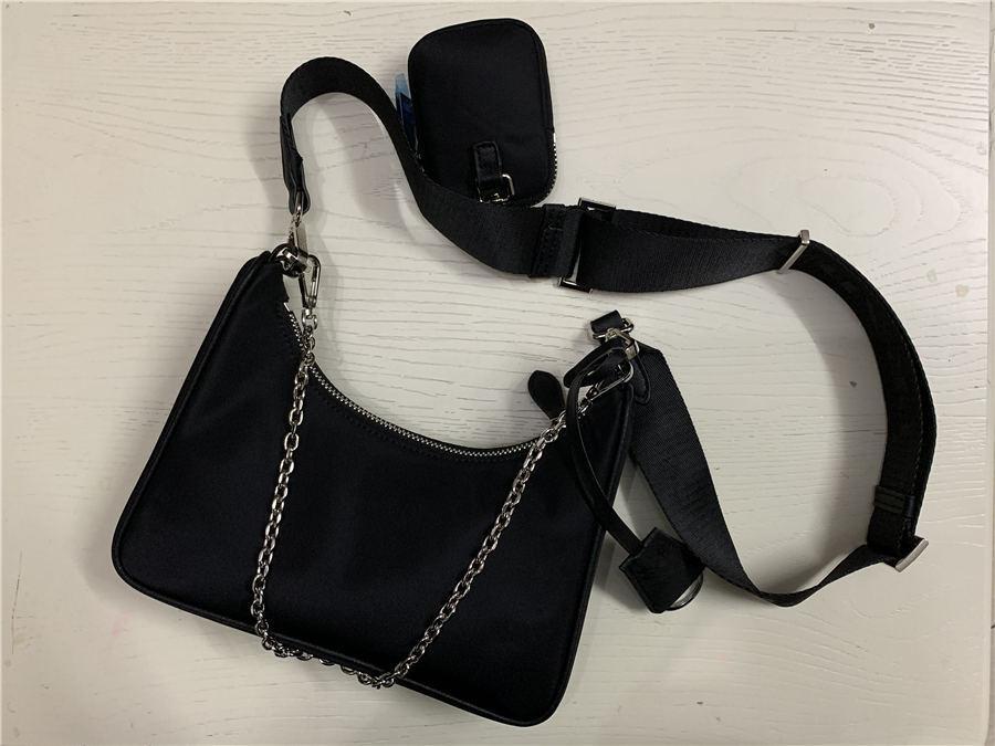 bolso crossbody 2020 Venta de bolsas de 3 piezas conjunto genuino de las mujeres de nylon de los bolsos bolsos de la señora de bolsas Monedero de tres ítems