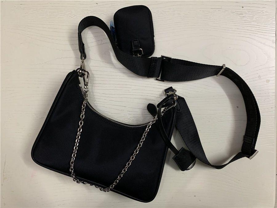 2020 Satış 3 parça seti çantaları kadınların crossbody çanta hakiki Naylon çanta cüzdan bayan çanta torbaları Madeni Para Çanta üç öğe