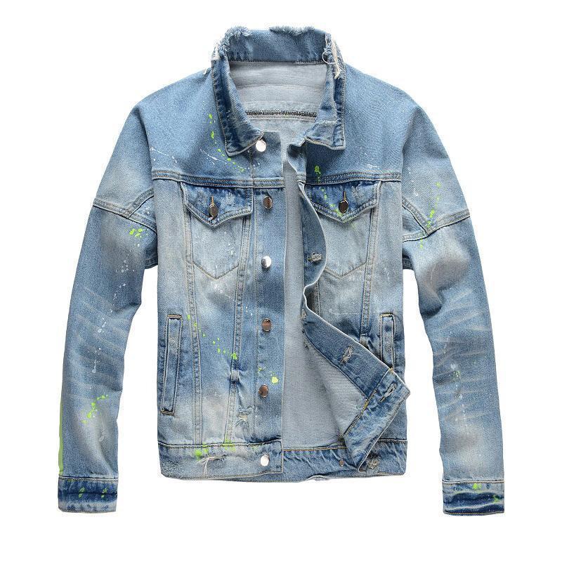 19FW design di lusso denim uomo giacche di Hip Hop uomini le donne retrò Giacca blu Nero Moda Uomo Outerwear