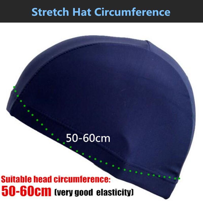 Yetişkin Womenmen Saf Renk Yüzme Caps Koru Kulaklar Uzun Saç Spor Swim Havuz Şapka, Genç BoysGirls Elastik Likra Swim Cap