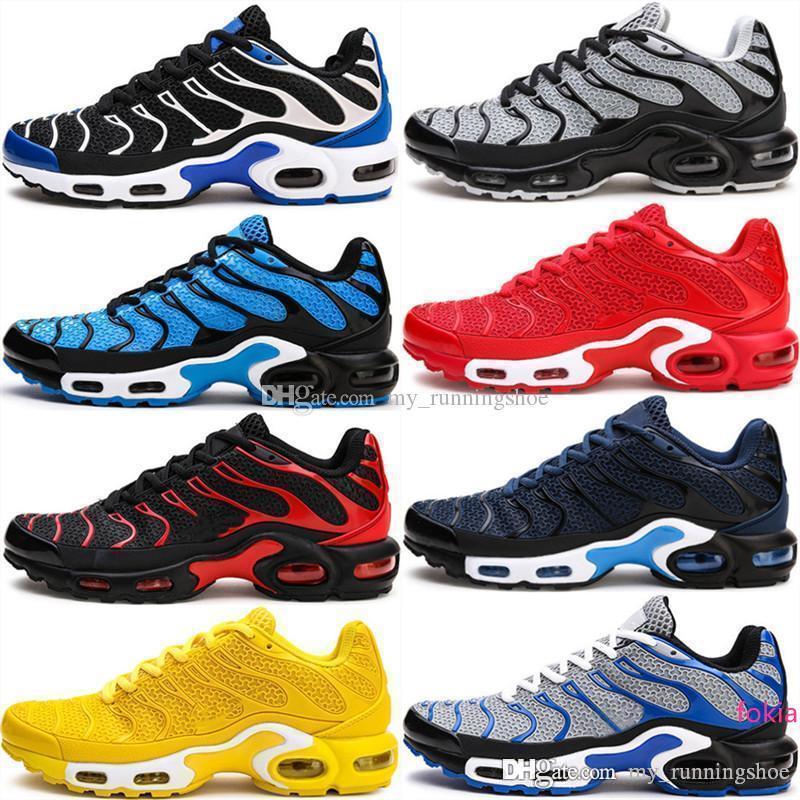 Новый т плюс КПУ Tailwind 4 IV TN мужские кроссовки Спортивные Chaussures Дизайнер тренеров Синий Желтый кроссовки обувь 40-47