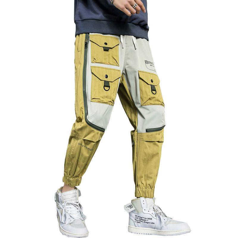 Pantaloni Pantaloni 2020 di Hip Hop Streetwear uomini di modo degli uomini casuali Cargo Pants Pantaloni High Street elastico in vita Harem Pant ABZ659