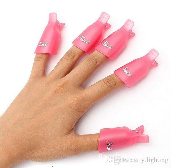 Moda Sıcak Plastik Nail Art Kapalı Islatın Kap Klip UV Jel Cila Sökücü Wrap Aracı Gofuly 85 adet