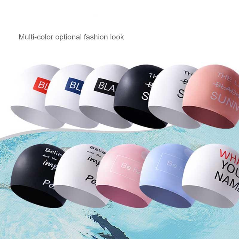 2020 Новый Упругие водонепроницаемый аудиовходов ткани Защищаем Уши длинные волосы Спорт плавать бассейн Hat Cap Плавание Свободный размер для мужчин Женщины Взрослые YM0502