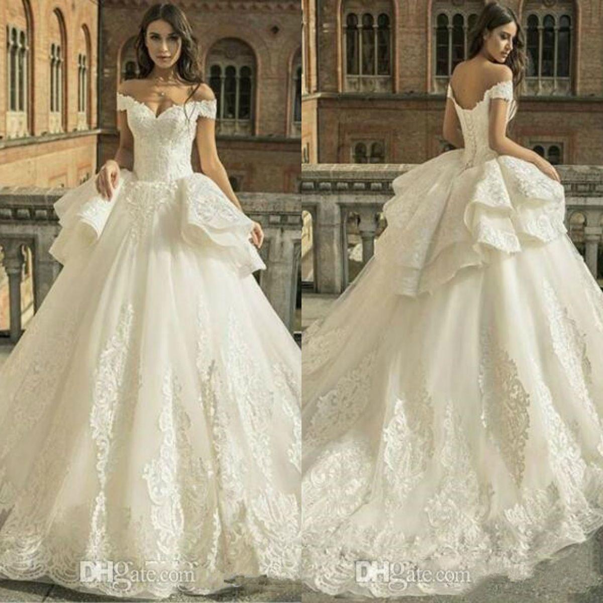 Ball Gown Lace Zuhair Murad Princess Wedding Dresses Off The