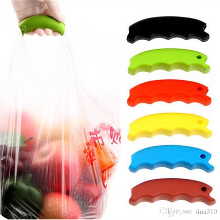 Горячая простая Силиконовая хозяйственная сумка корзина перевозчик сумка перевозчик Бакалея держатель ручка удобный захват ручки усилие-экономия механики тела IB360