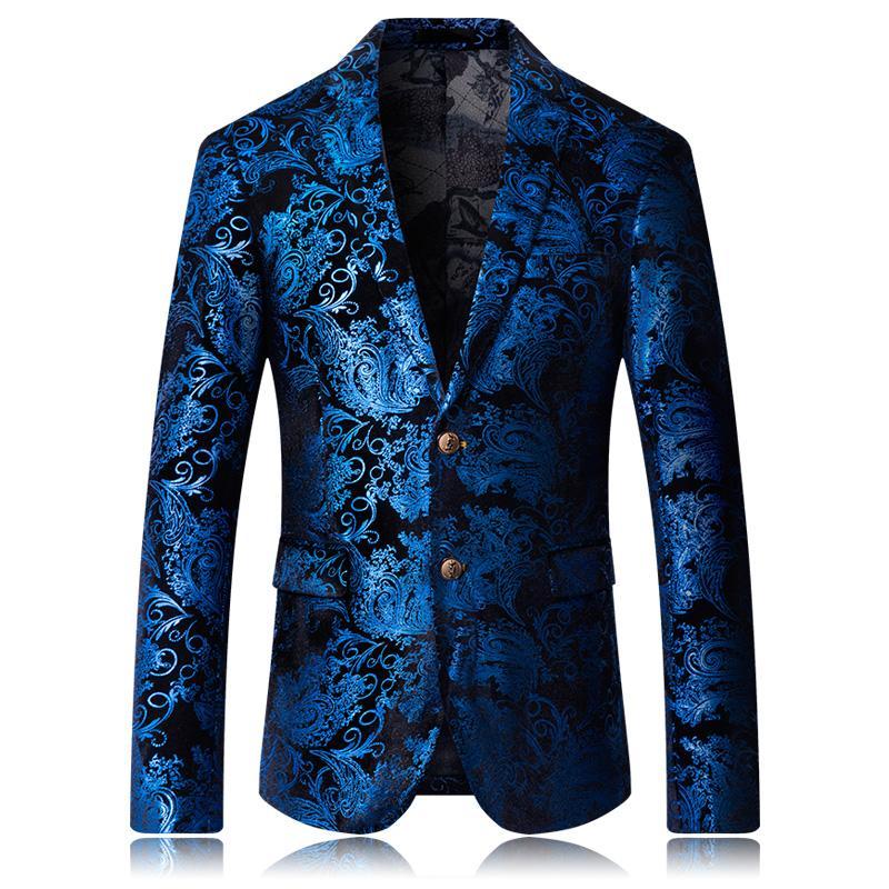 2019 nuovi cappotti Blazer da ballo moda uomo 2019 Modello maschile Affari affari Fase di nozze Maniche lunghe Abito Giacche Cappotto sottile M-5XL