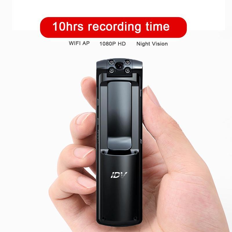 مقطع WIFI AP كاميرا HD 1080P سيارة DVR مسجل فيديو أمن الشرطة كاميرا الأشعة تحت الحمراء للرؤية الليلية كاميرات الفيديو الرقمية البسيطة