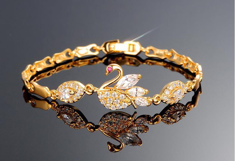 European and American fashion cross-border jewelry beautiful diamond zircon copper-plated gold ladies girlfriend bracelet micro-inlaid jewel