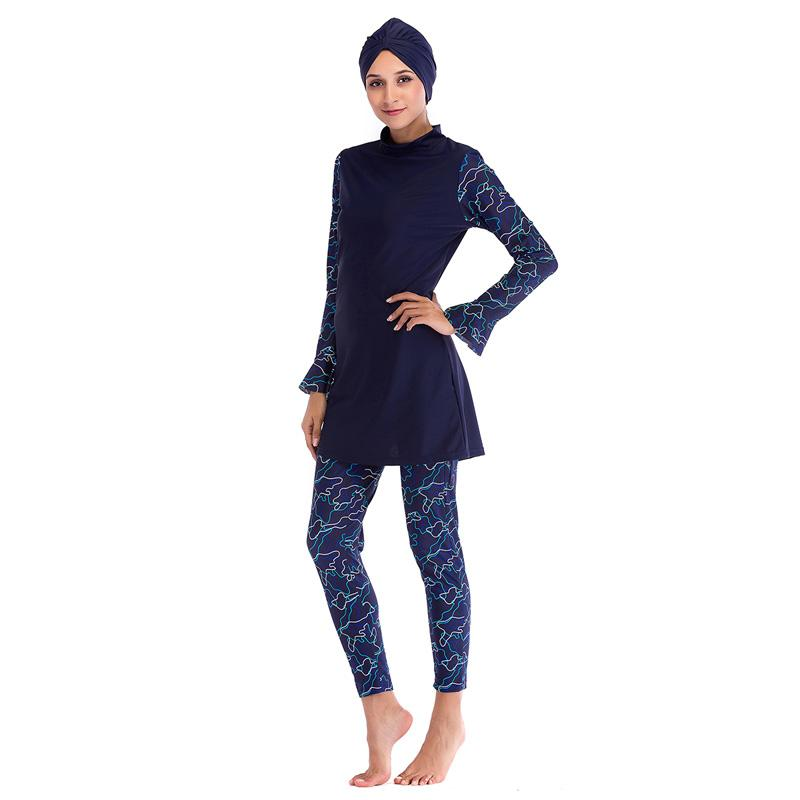 Modest Burkinis Plus Size Musulman Hajib Islamic Swimsuit For Women Muslim Swimwear Full Cover Conservative Swim Wear