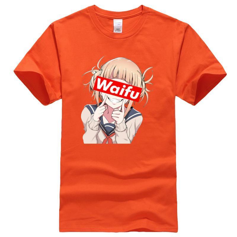 Waifu Япония Аниме Хлопок Мужчины Топы New Summer 2020 Смешные Hip Hop Повседневная мужская мода футболки Streetwear Harajuku футболки
