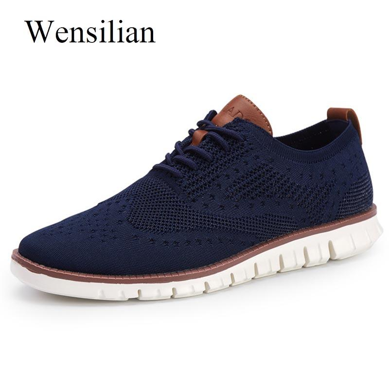 Sneakers homme Souliers simple Tricoté Air Mesh Chaussures solide dentelle Shallow Up Lightweight Hommes Chaussures Flats Zapatillas Hombre
