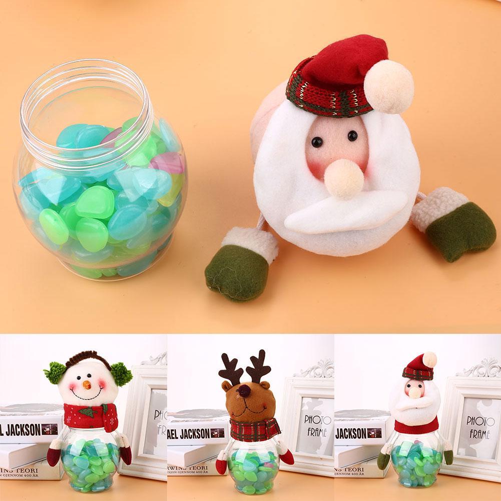 Noel Şeker Şeker Kutusu Santa Elk Noel Şişe Kavanoz Hediye Konteyner Malzemeleri