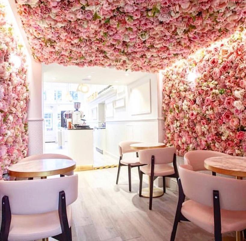 인공 로즈 40x60cm 사용자 지정 색 실크 장미 꽃 벽 결혼식 장식의 백 드롭 인공 꽃 벽 로맨틱 EEA1587