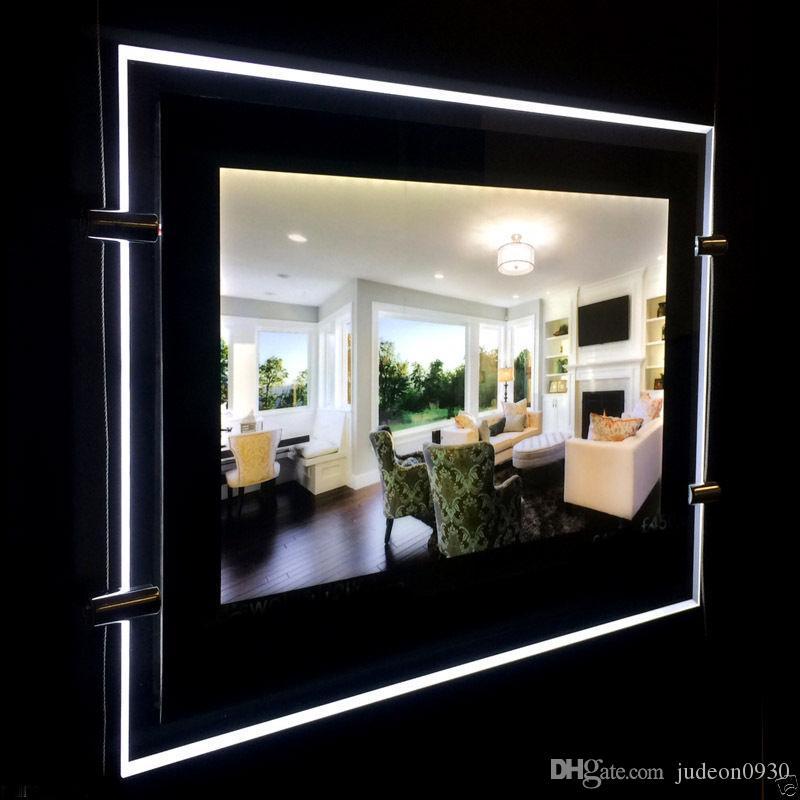 (1unit / colonne) A4 Simple face magnétique panneau avant LED Fenêtre Lightboxesl, rétro-éclairé Edge-Lit LED Light Display fenêtre, fenêtre Agent immobilier