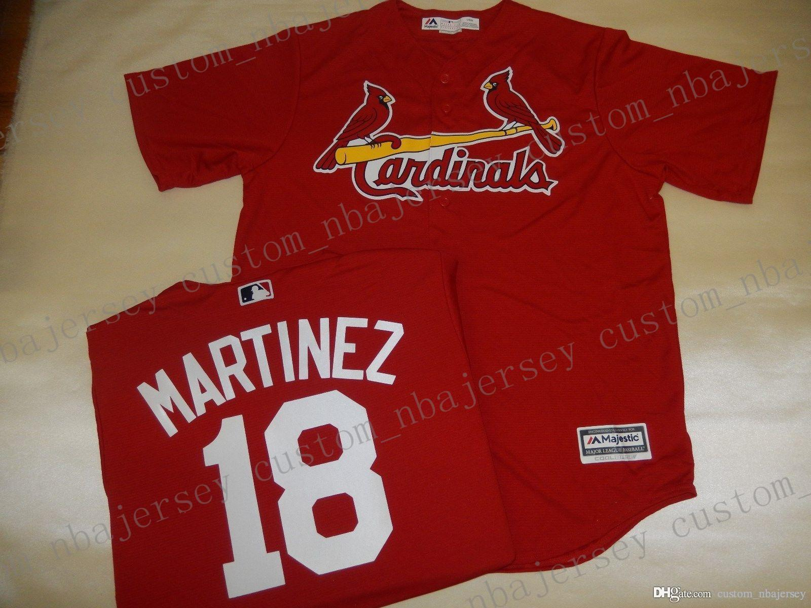 Cheap Retro custom CARLOS MARTINEZ Jerseys ALT RED Stitch customize any number name MEN Jerseys XS-5XL
