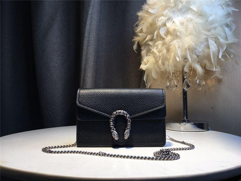 luxury small handbags 2020 new famous designer Genuine Leather chain handbag, high quality fashion Female shoulder bag 18cm