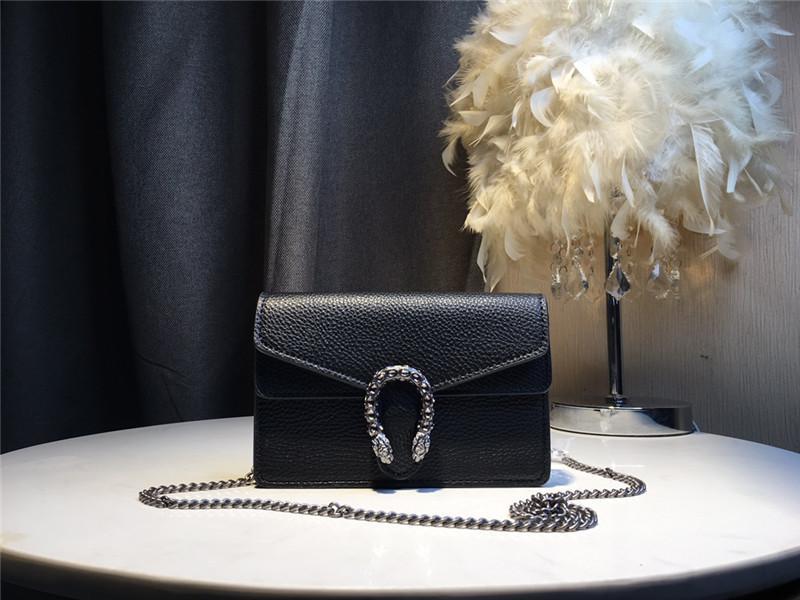 lüks küçük el çantaları 2020 yeni ünlü tasarımcı Gerçek Deri zincir çanta, yüksek kalitede moda Kadın omuz çantası 18cm