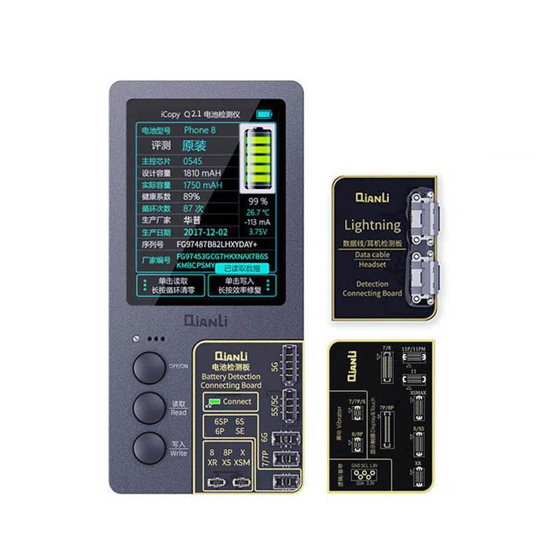 Güç Aracı Setleri Qianli Icopy Plus için 11 Prokax 11-Pro Xsmax XS 7 LCD Ekran Ture Ton / Virbrator Programcı 2.1 Sürüm