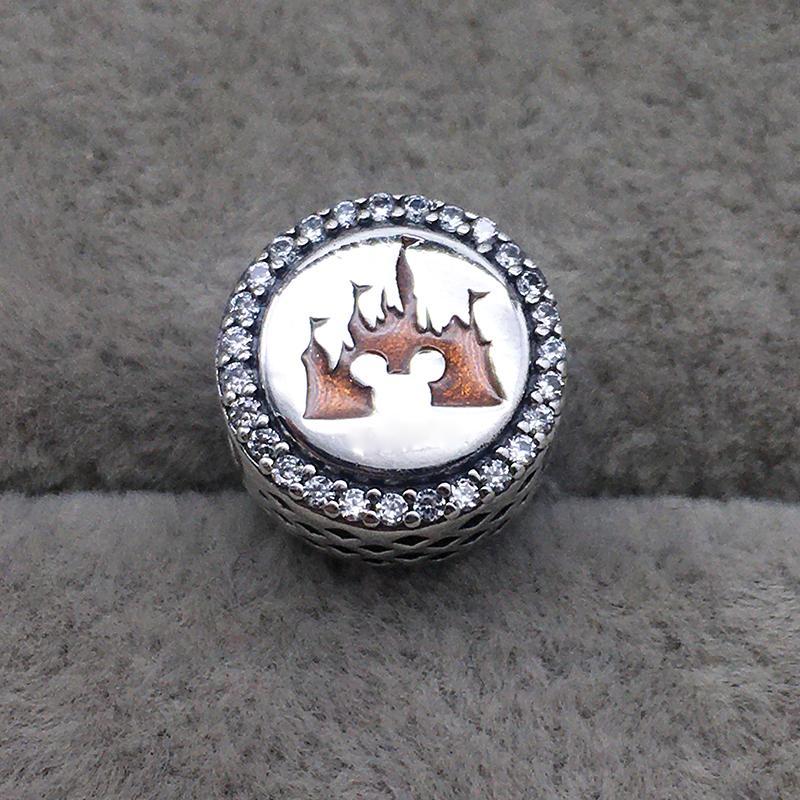 2020 Colecção Primavera Castelo encanto 925 prata rato dos desenhos animados encantos caber Bead pulseira colar de DIY Para as mulheres jóias Frete grátis