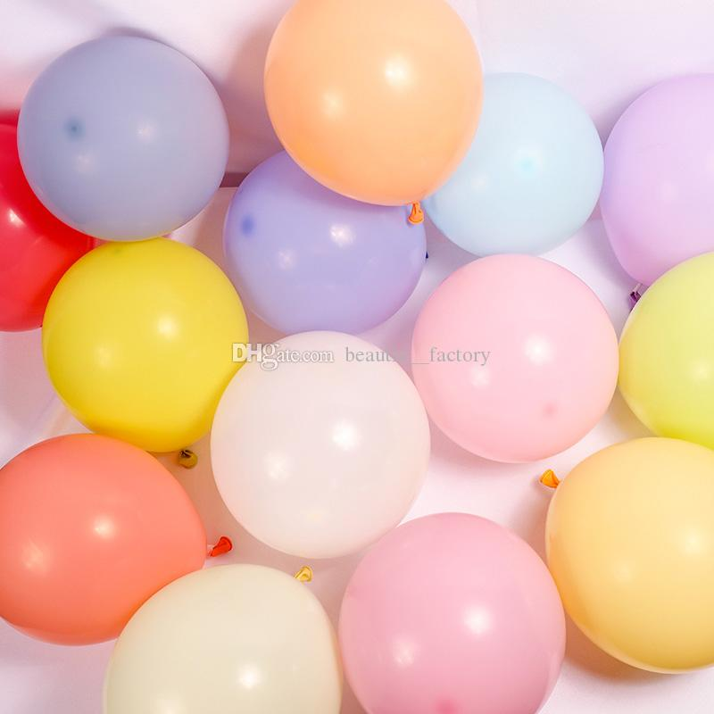 """100Pcs Latex Macaron Candy Color Balloons 10"""" High Quality 2.3g Multi Colors Party Decoration Free Shipping"""