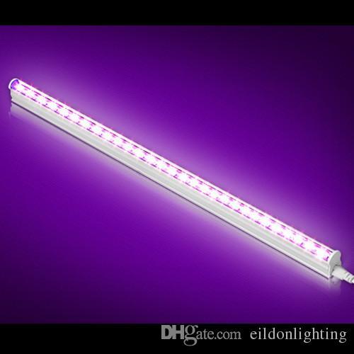 T5 LED UV 395-400nm Tube 4ft 2ft 1ft 5-30W AC100-240V Integrated Lights 30LED 60LED 120LEDs 2835SMD Blubs Lamp Ultraviolet Disinfection Germ