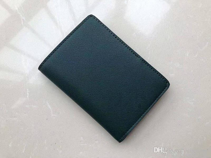 Marke Designermode Frauen Klassische Luxus-Mappenhandtasche Kartenhalter dünne Geldbörse Geldbeutel 7 Farben
