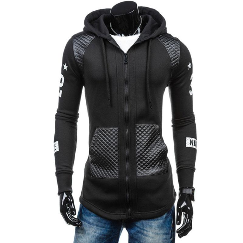 Men's Hoodies & Sweatshirts 2021 Fashion Brand Men Zipper Patchwork Slim Sportswear Suit Coat The GDSB