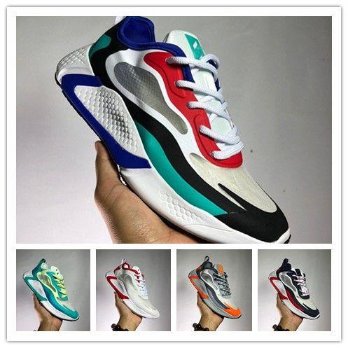 2020 AlphaBounce HPC AMS para hombre de los zapatos corrientes de los hombres AlphaBounce instinto Run Swift DT Blanco Rojo Negro Reaccionar Diseñador Snerkers Tamaño 40-45