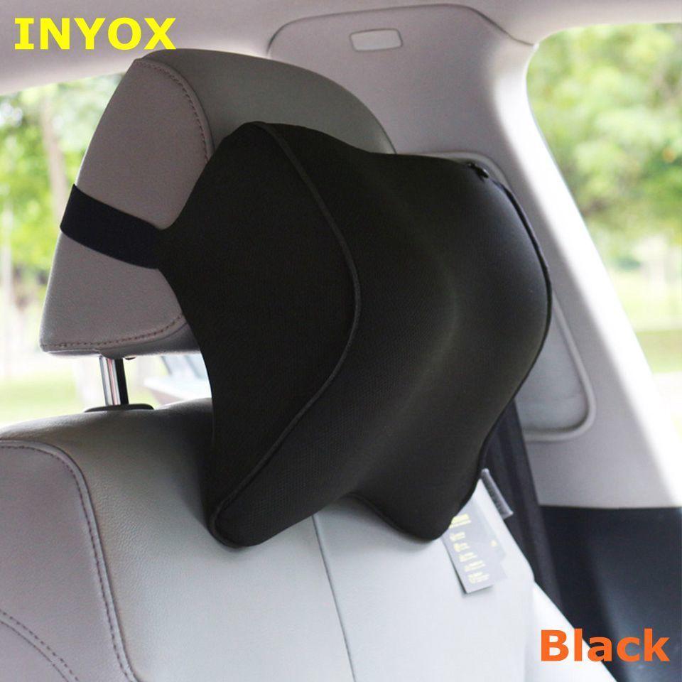 의자 여행 지원 쿠션에 대한 자동 다시 머리 나머지 메모리 폼 원단의 베개 허리 S1 머리 받침 자동차 목 베개 시트는 T200601를 커버
