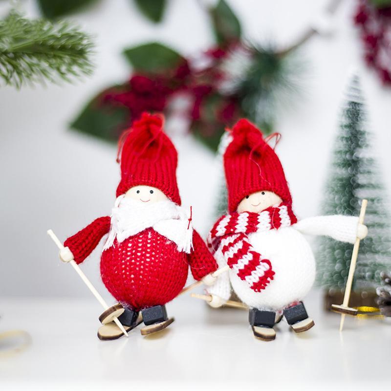 Hot Ski Puppe hängende Dekoration Ornament Anhänger für Weihnachtsbaum-Hotel Home Kinder Geschenk PLD