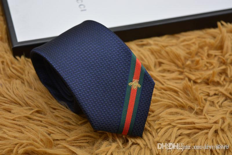 мужские галстуки 100% шелковый галстук мужской галстук сторона шеи галстуки бизнес случайный галстук коробка подарка упаковка 15 стиль G669