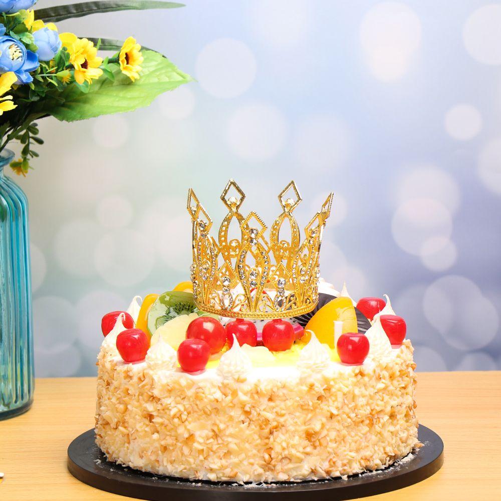 Super 2020 Metal Pearl Happy Birthday Cake Toppers Shining Mini Crown Funny Birthday Cards Online Alyptdamsfinfo