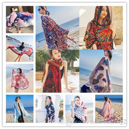 34 Tasarımlar ulusal stil püsküller eşarp kadınlar büyük boy fular plaj havlusu pamuk keten eşarp şal seyahat bandı için kafa bandı