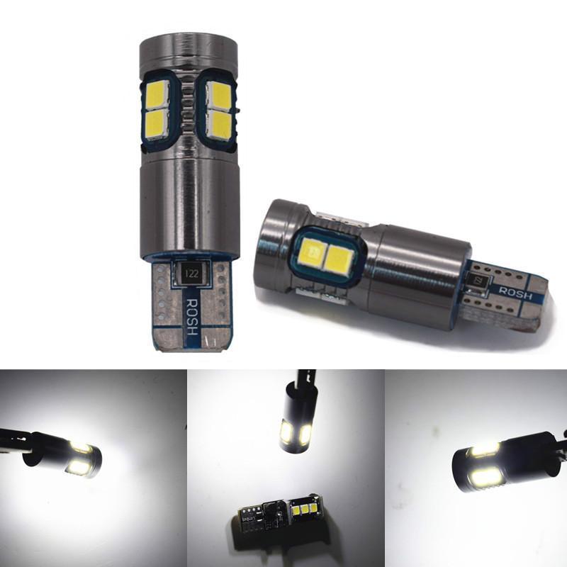 2pcs / set de los bulbos del coche LED T10 Nueva decodificación 9SMD 3030 Posición de la lámpara de alta potencia Brillo coche se ilumina la luz de puerta