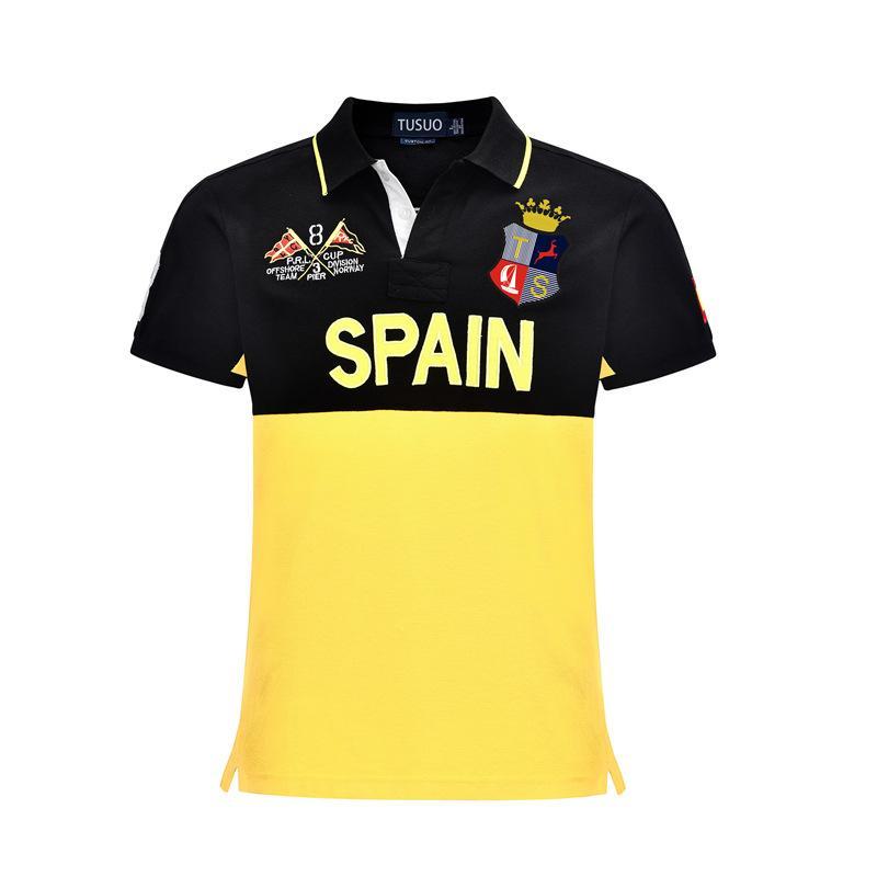 Original design europeu e americano polo bordada lapela algodão de manga curta camisa polo camisa dos homens País Boating alta qualidade