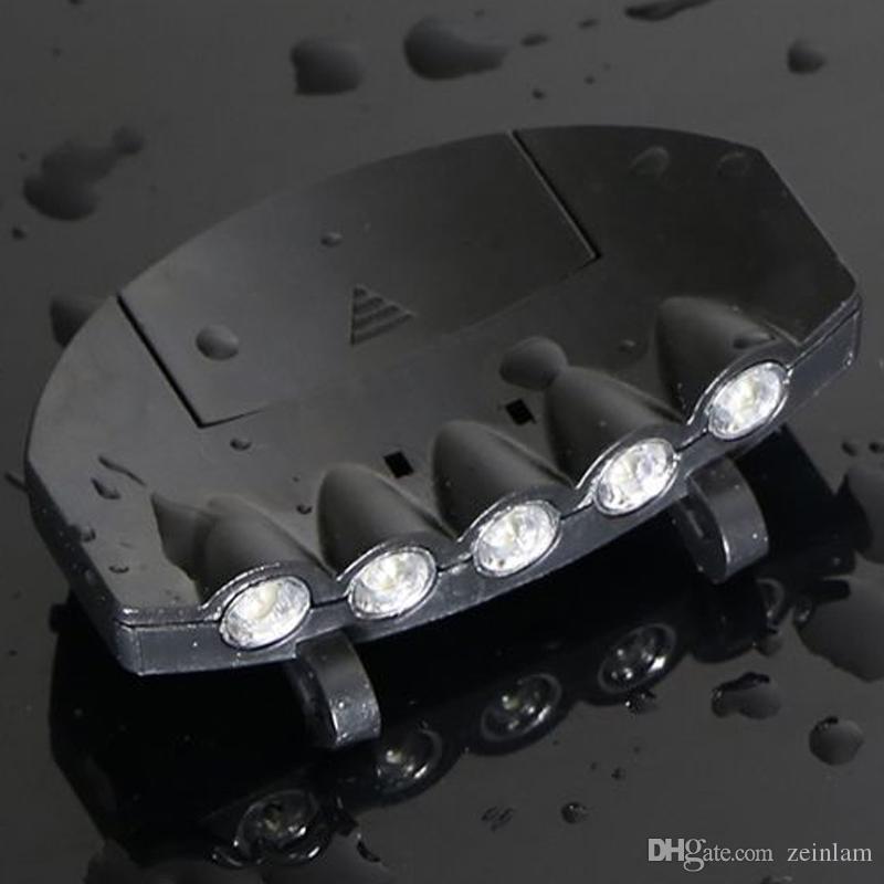 LED Baseball Hut Lichter Nachtfischen Scheinwerfer 5 LED Hutclip Ultra Bright Mini-Freisprech-LED-Clip auf Hutlicht