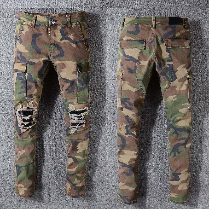 Камуфляж лето тонкий мужские случайные штаны прилив толстяк плюс мульти-карман толстый камуфляж размер XL брюки мужские комбинезоны