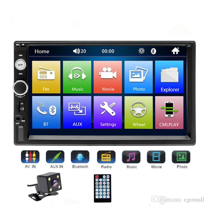"""Universel 2 din voiture Multimedia Player Autoradio 2din Stéréo 7 """"Caméra de Recul Radio MP5 Player Auto Radio"""