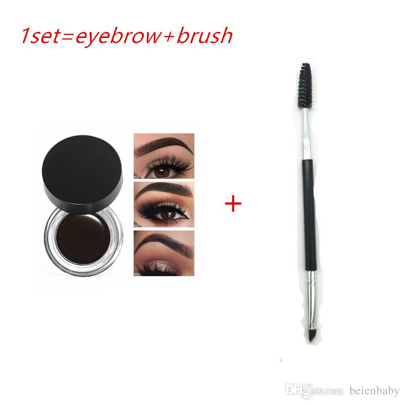 Epack 2019 New Eyebrow plus Brush Pomade Eyebrow Enhancers Makeup Eyebrow 11 Colors With Retail Package