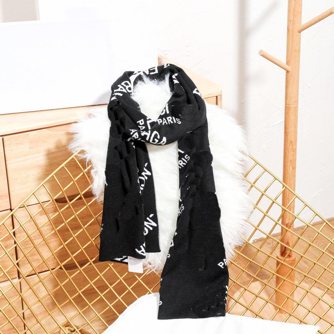 PARIS letter print mens designer scarf new fashion autumn winter white black women men scarves street warm women scarf