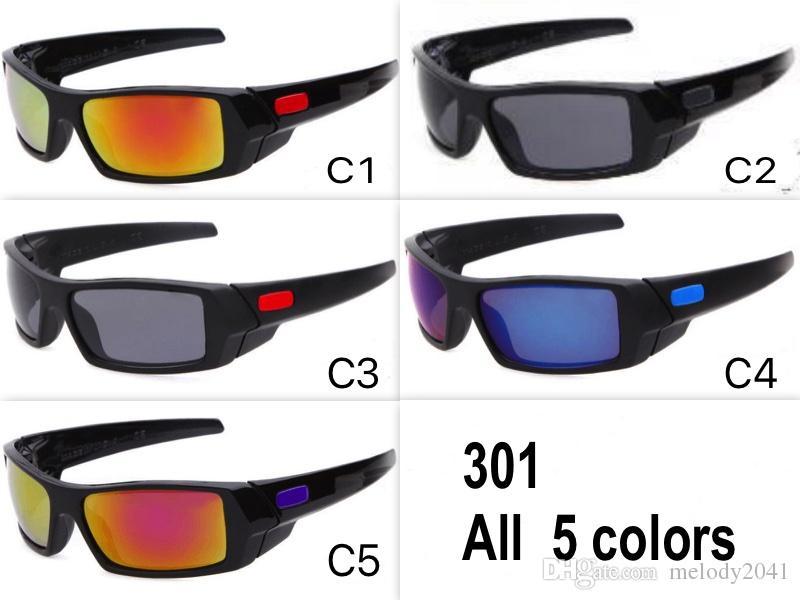 Vendita calda Sport all'aria aperta Occhiali da sole per gli uomini Occhiali di guida di marca Lenti a specchio Design unisex 5 colori all'ingrosso