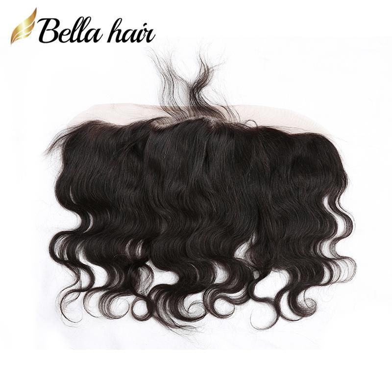 Body Wave Ohr-Ohr-Spitze-Frontal-indische menschliche Haarverlängerungen 13 * 4 Schließung Bella-Produkte