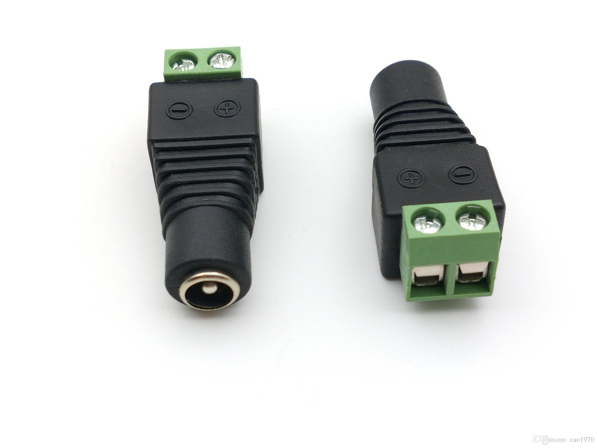 1000PCS و 5.5mm س 2.1 DC قوة أنثى التوصيل موصل محول للكاميرا CCTV