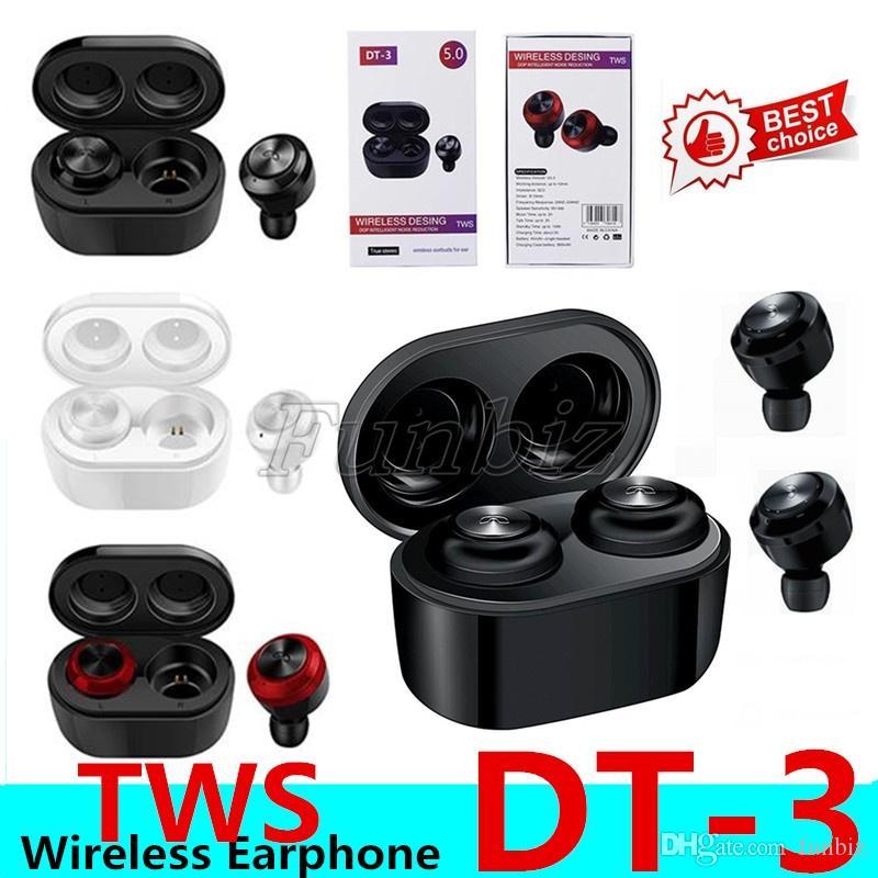 DT3 DT3 TWS Мини Bluetooth наушники 5,0 Правда беспроводной наушники стерео наушники Спорт Водонепроницаемая портативная гарнитура для всех смартфонов