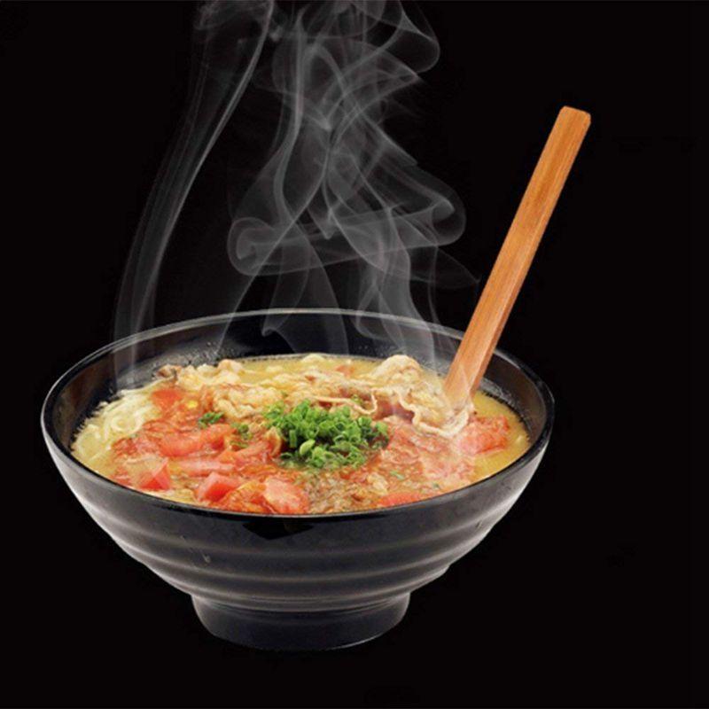 2pcs alça longa japonês colher grande Ajisen Ramen bebida sopa de concha de tartaruga ramen panela quente