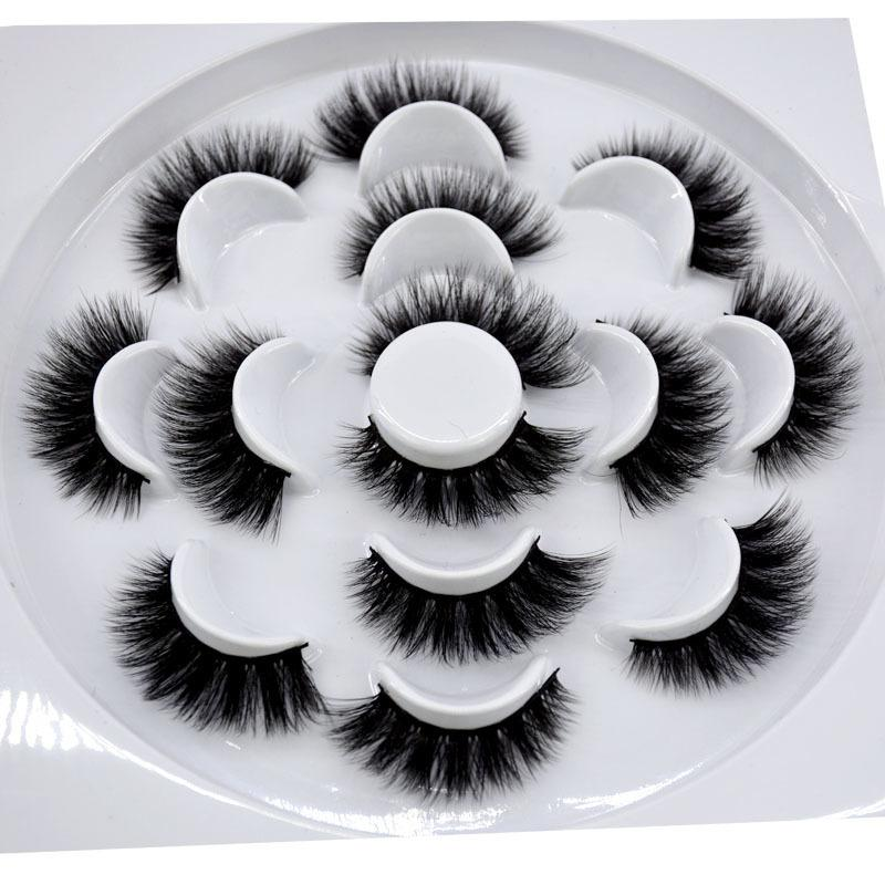 2019 New 7 Pairs Natural False Eyelashes Fake Lashes Long Makeup 3d Lashes Eyelash Extension Eyelashes For