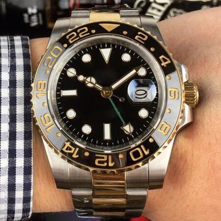 Hommes Montres Mouvement GMT Céramique automatique Bezel mécanique en acier inoxydable de luxe Designer Montre Vétérans Hommes en ligne datejust Montres-bracelets